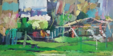 Plaza Hortas|PinturadeAngeli Rivera| Compra arte en Flecha.es