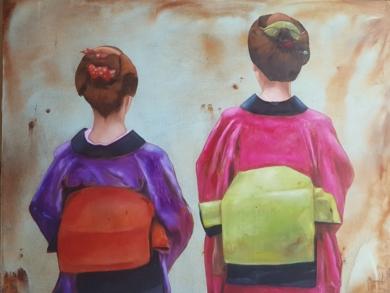 Japonesas|PinturadeMiguel Ángel García López| Compra arte en Flecha.es