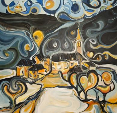 © Els somnis de Unha - Los sueños de Unha|PinturadeRICHARD MARTIN| Compra arte en Flecha.es
