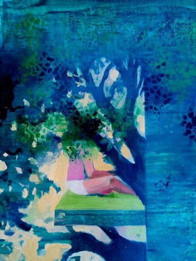 Cabaña Verde|PinturadeCarmen Montero| Compra arte en Flecha.es
