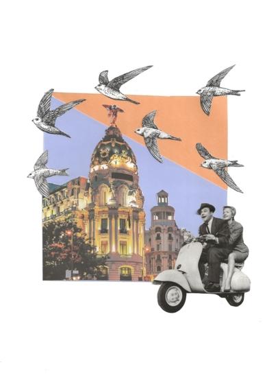 Living in Madrid|CollagedeRAQUEL SANTAMARIA| Compra arte en Flecha.es