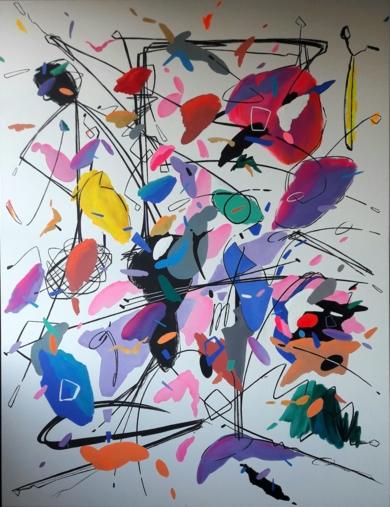 JOIE DE VIVRE (III) PinturadeValeriano Cortázar  Compra arte en Flecha.es