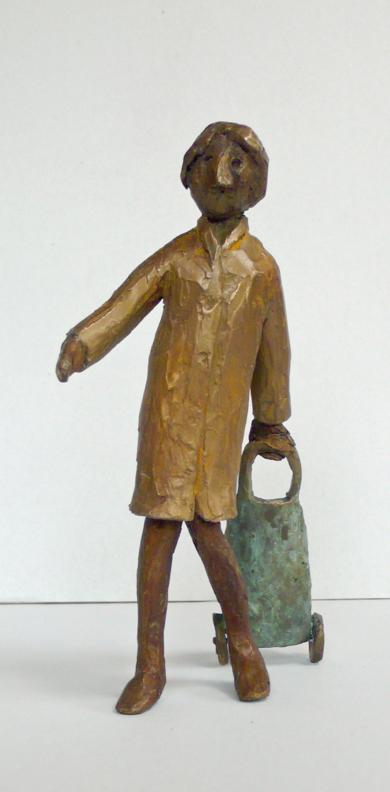 La Compra (gente por la calle)|EsculturadeAna Valenciano| Compra arte en Flecha.es
