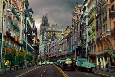 Gran Vía Horizontal|FotografíadeLeticia Felgueroso| Compra arte en Flecha.es