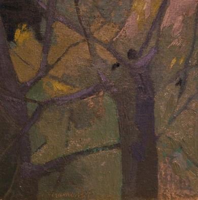 """Bosque en Azul"" serie Bosques.|PinturadeCarolina Veramendi B| Compra arte en Flecha.es"