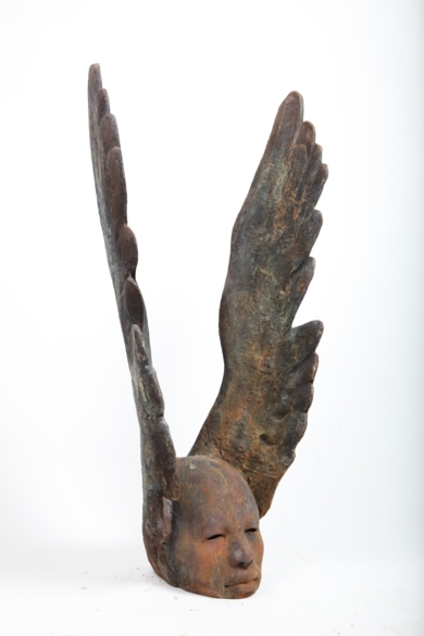Cabeza alada|EsculturadeJesús Curiá| Compra arte en Flecha.es