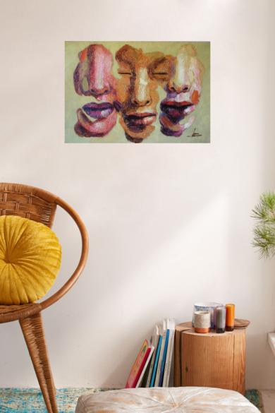 Fluyente, ( Serie Diaspora)|PinturadeJuan Chamizo| Compra arte en Flecha.es