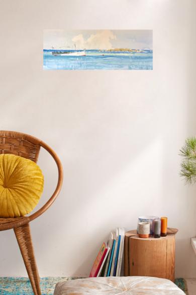 Llaud fondeado|PinturadeIñigo Lizarraga| Compra arte en Flecha.es