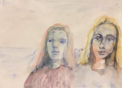 En la Playa|DibujodeJaelius Aguirre| Compra arte en Flecha.es
