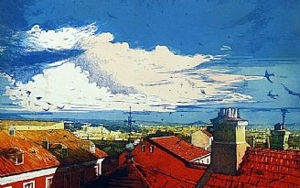 Cielo de verano|Obra gráficadeClara Gangutia| Compra arte en Flecha.es