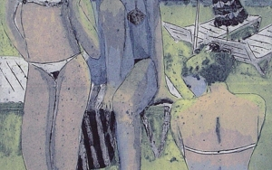 Chicas en la Playa Obra gráficadeJenifer Elisabeth Carey  Compra arte en Flecha.es