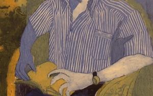Alberto leyendo|Obra gráficadeJenifer Elisabeth Carey| Compra arte en Flecha.es
