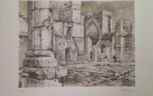 Monasterio de San Pelayo (I)|Obra gráficadeLuis Javier Gayá| Compra arte en Flecha.es