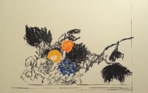 A propósito de Caravaggio. Cesta con frutas|Obra gráficadeAlberto Corazón| Compra arte en Flecha.es
