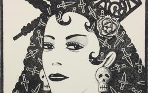 Serie: Diosas de la ópera: Carmen b/n|Obra gráficadeFernando Bellver| Compra arte en Flecha.es