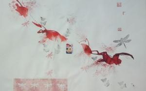 Buscando el ritmo de una rama de cerezo|CollagedeMartmina| Compra arte en Flecha.es