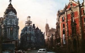 Calle Gran Vía de Madrid|PinturadePedro Higueras| Compra arte en Flecha.es