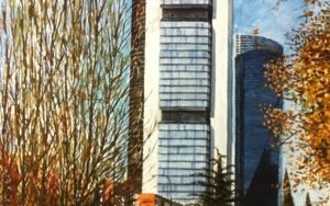 rascacielos de la Castellana, Madrid|PinturadePedro Higueras| Compra arte en Flecha.es