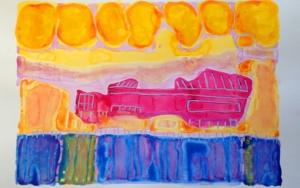 el barco|Obra gráficadeMila Domenech| Compra arte en Flecha.es