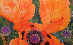 Tres amapolas|PinturadeCarmen Varela| Compra arte en Flecha.es