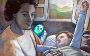 Mamá llega con el Sol|PinturadeFernando Charro| Compra arte en Flecha.es