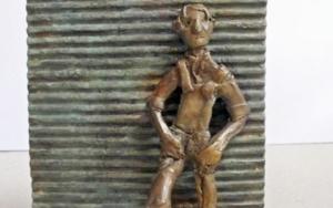 Esperar a que abran (Serie Infinitivos)|EsculturadeAna Valenciano| Compra arte en Flecha.es