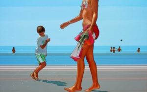 Beach Dance PinturadeAurora Rumí  Compra arte en Flecha.es