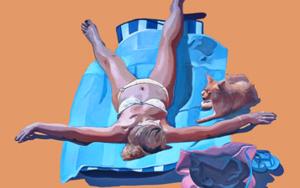 Con la Chispi|PinturadeAurora Rumí| Compra arte en Flecha.es