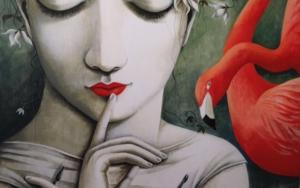 Flamencos|PinturadeMenchu Uroz| Compra arte en Flecha.es