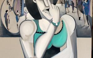 Mi móvil, mi dios|PinturadeMiguel Mansanet| Compra arte en Flecha.es