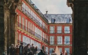 puerta de Felipe III, Plaza Mayor, Madrid|PinturadePedro Higueras| Compra arte en Flecha.es