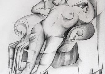 mujer cansada|DibujodeMiguel Mansanet| Compra arte en Flecha.es