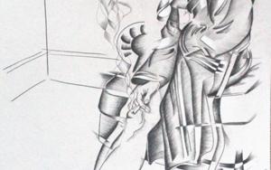 mujer  fumando|DibujodeMiguel Mansanet| Compra arte en Flecha.es