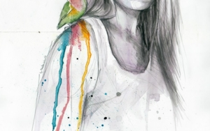 Those who don't fly remain wandering|DibujodeMentiradeloro| Compra arte en Flecha.es