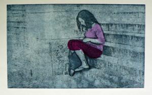 La Escalera|Obra gráficadeAna Valenciano| Compra arte en Flecha.es