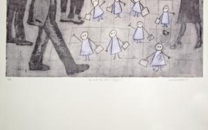 La salida del colegio|Obra gráficadeAna Valenciano| Compra arte en Flecha.es
