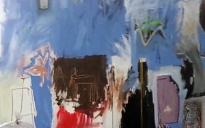 Blue, a Dog and Some Other Things|PinturadeAlmudena  Blanco| Compra arte en Flecha.es