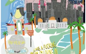 Mapa L.A.|DibujodeElena Éper| Compra arte en Flecha.es