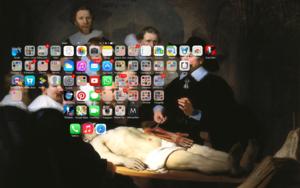 #Smartpaint, Lección de anatomía, Rembrandt|DigitaldeJuan Carlos Rosa Casasola| Compra arte en Flecha.es