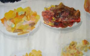 lo importante es con quien compartes el plato, no de qué está lleno VIII|DigitaldeJuan Carlos Rosa Casasola| Compra arte en Flecha.es