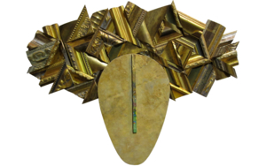 Tocado dorado|EsculturadeJuan Diego Miguel| Compra arte en Flecha.es