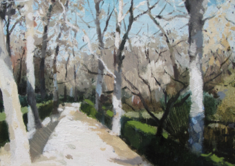Frio en el Retiro II|PinturadeJuan Manuel Campos Guisado| Compra arte en Flecha.es