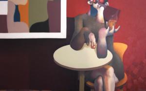 Drinking woman|IlustracióndeCarlos Blanco Artero| Compra arte en Flecha.es