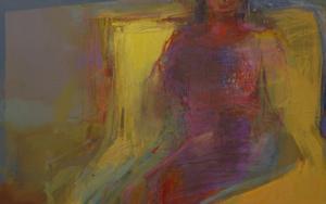 La espera III|PinturadeMaría Argüelles| Compra arte en Flecha.es