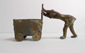 El carrito|EsculturadeAna Valenciano| Compra arte en Flecha.es