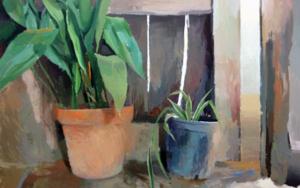 Las macetas de la puerta|PinturadeAntonio Barahona| Compra arte en Flecha.es