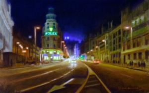 estudio nocturno|PinturadeMBravoBecerra| Compra arte en Flecha.es