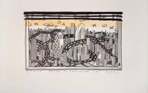 Tokio desde el hotel|Obra gráficadeFernando Bellver| Compra arte en Flecha.es