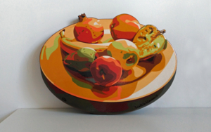 Plato con frutas|Escultura de pareddeBeatriz Ujados| Compra arte en Flecha.es