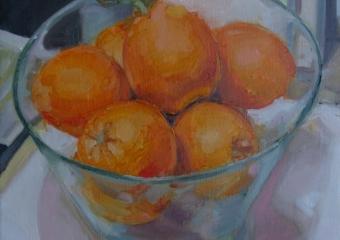 Naranjas y Vidrio|PinturadeJuan Moreno Moya| Compra arte en Flecha.es